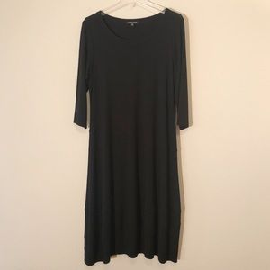 Eileen Fisher Black Dress, 3/4 Sleeves, Sz Small